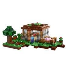 Primeira noite modelo blocos de construção compatível 21115 meu mundo tijolos conjuntos brinquedos para presentes crianças com steve figuras ação