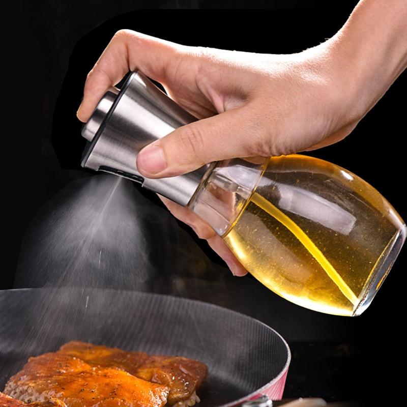 رذاذ مصباح زيتي بزجاجة البخاخ أوويلر وعاء شواء الشواء الطبخ أداة يمكن وعاء تجهيزات المطابخ المطبخ أداة الزجاج ABS الزيتون مضخة رذاذ زجاجة