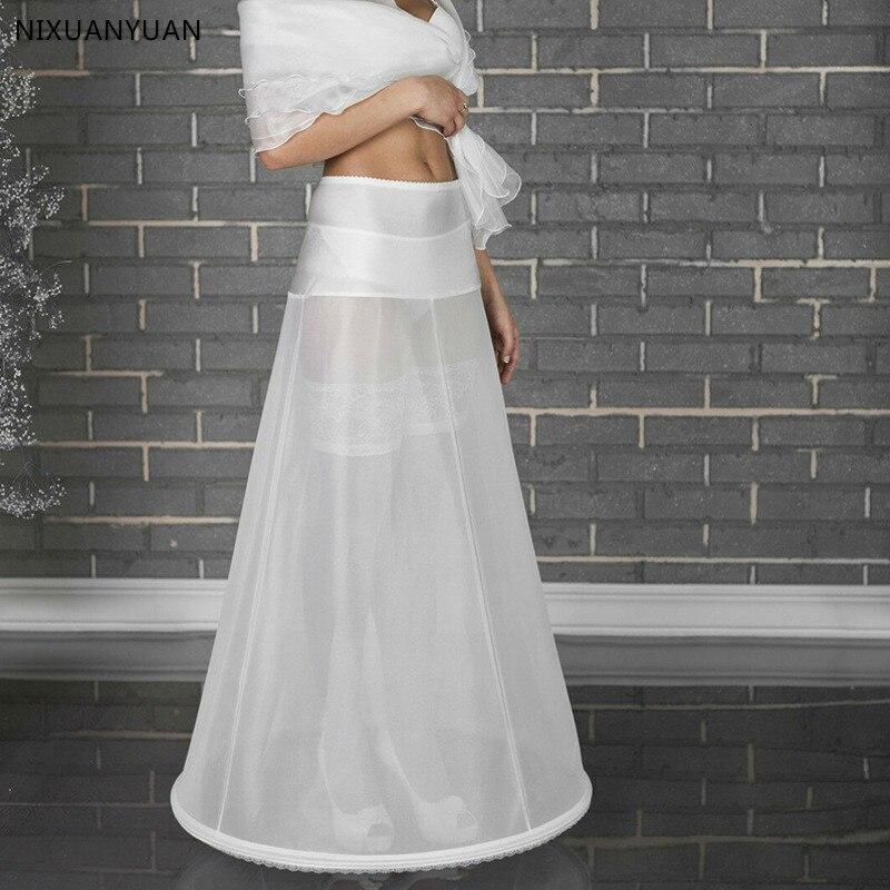 Wholesale Price 1 Hoop Bone Elastic Waist Petticoat for Bridal Mermaid Wedding Dress Crinoline Slip Underskirt In Stock