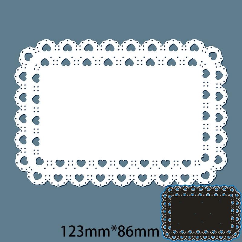 Metal steel Cutting Dies  Lacy rectangle DIY Scrapbooking Photo Album Embossing paper Cards 123*86mm