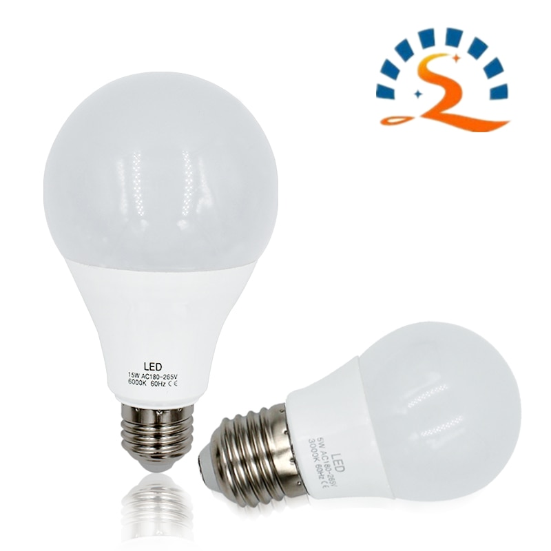 2W 5W 7W 9W 12W 15W 18W E27 LED Light Bulb PC A60 G45 C35 Candle bulbs 220V home of lamp High Brightness warm white