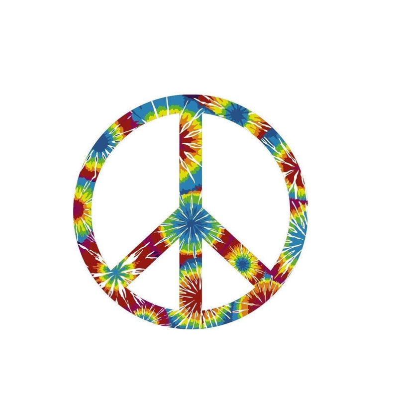 Peace Sign Car Sticker Styling Motorcycles  Rear  Suv Cover Scratch Decal Auto Exterior Decorative K