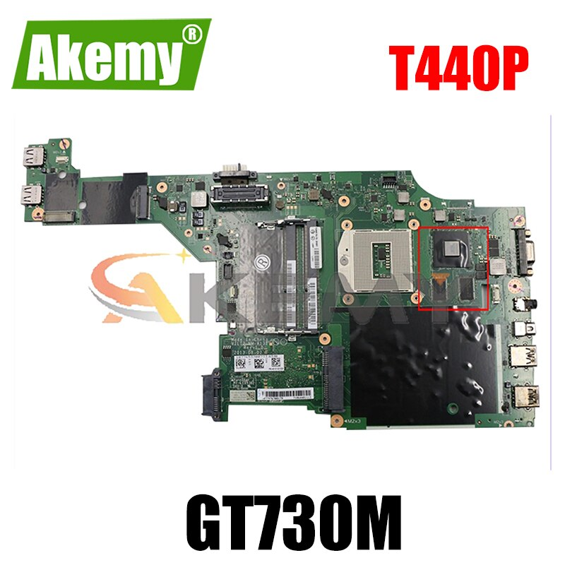 Akemy VILT2 NM-A131 لينوفو ثينك باد T440P اللوحة الأم GPU GT730M 100% اختبار العمل FRU 00HM989 00HM984 00HM988 00HM987