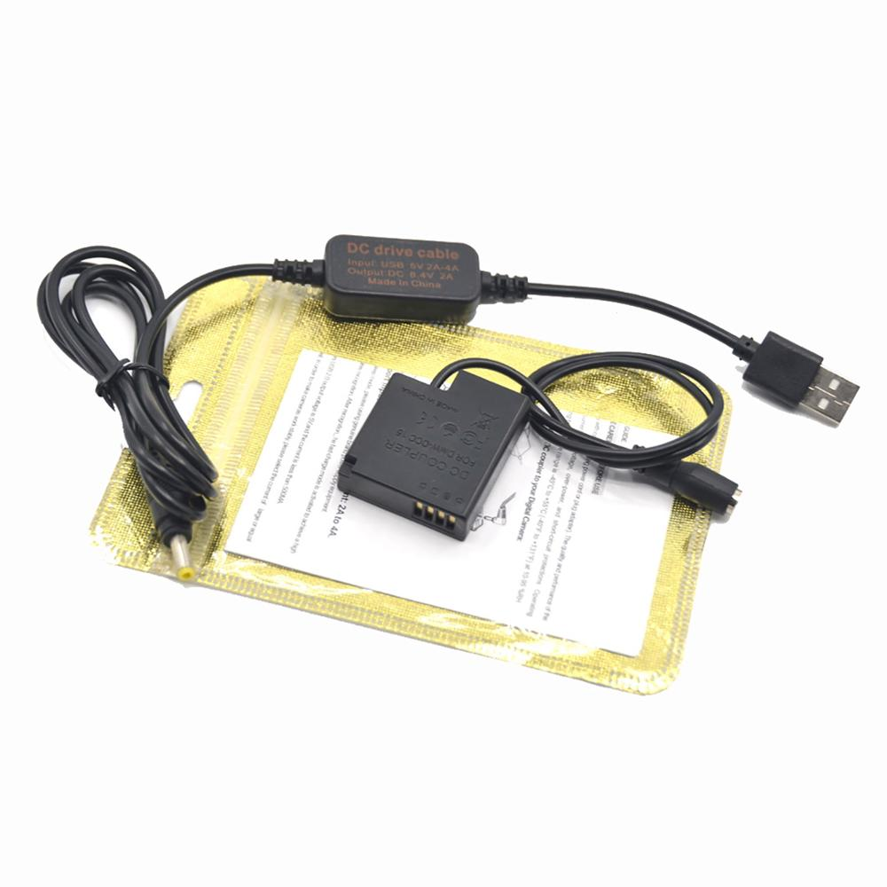 Мощность Банк зарядное устройство USB кабель + DMW-DCC15 соединитель прямого тока DMW-BLH7 BLH7PP аккумуляторной батареей для Lumix LX10 LX15 DMC-GM1 GM5 DMC-GF7 DMC-GF8
