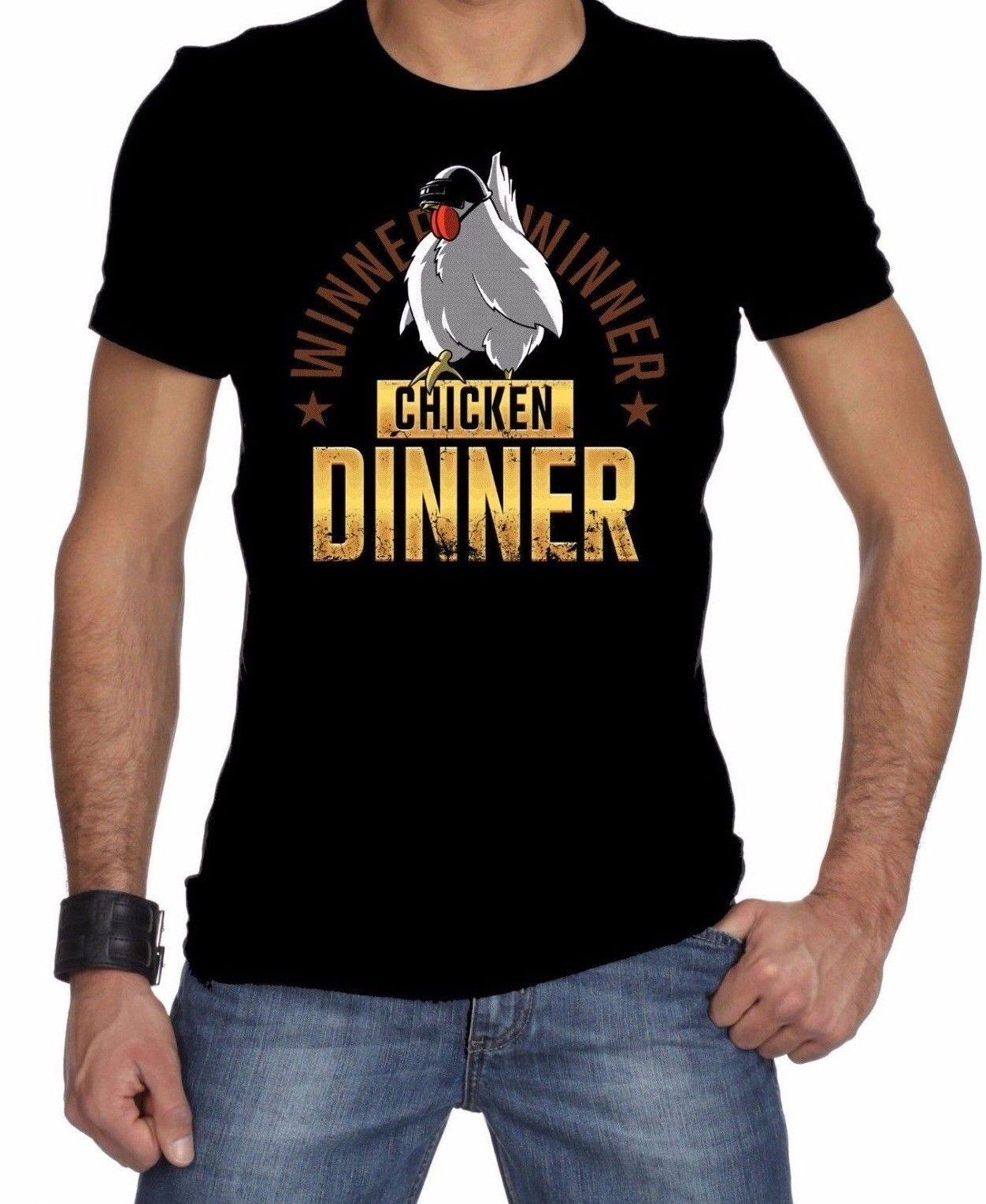 POPULAR !!!! Winner Winner Chicken Dinner Adult PUBG T-shirt Men Woman  Cartoon t shirt men Unisex New Fashion tshirt