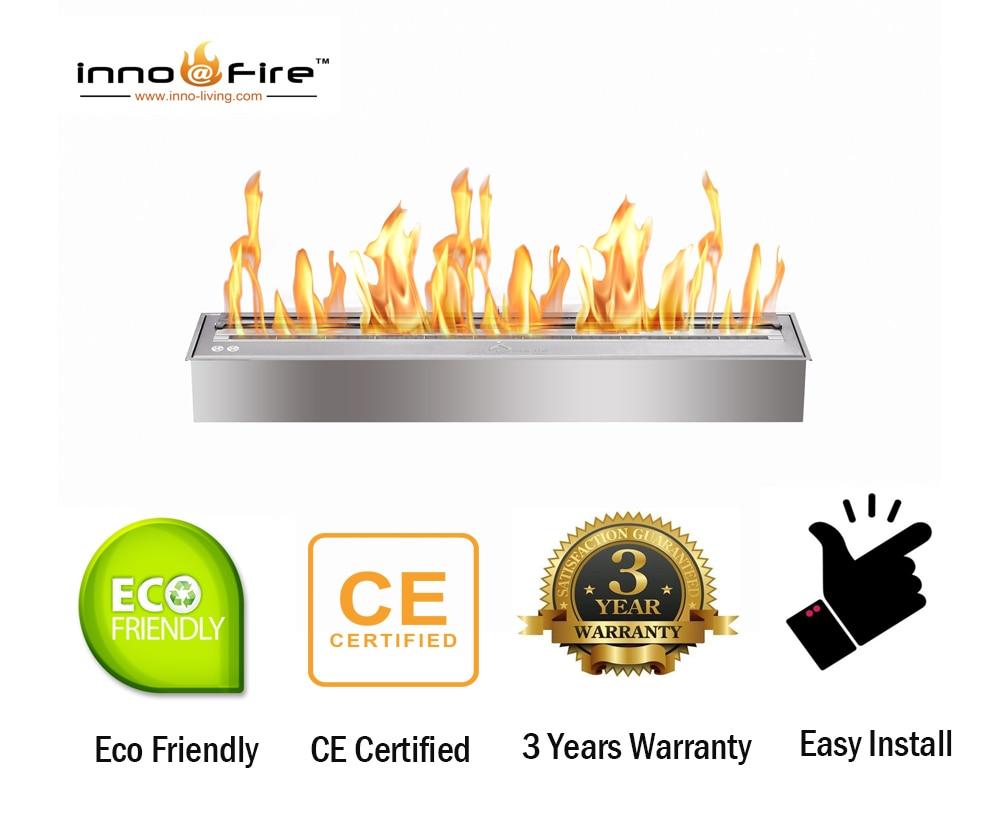 Inno living fire 48 pulgadas al aire libre quemador de chimenea de acero inoxidable estufa de gel de etanol