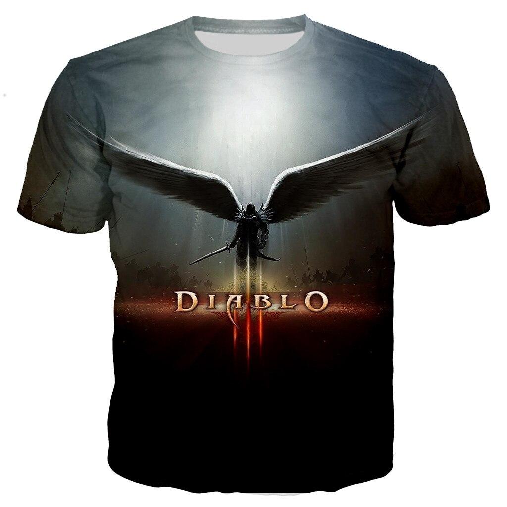 Game Diablo 3 Reaper of Soul 3D Printed T-shirt Men/women New Fashion Casual Cool Style T Shirts Unisex Streetwear Tops