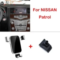 phone holder for nissan patrol y62 armada 2010 2011 2012 2013 2014 2019 air vent interior mounts stand accessories phone holder