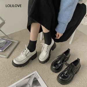 Fashion Women PU lolita shoes Japanese style College Students Kawaii Sweet girl cute Harajuku High heels Mary Jane Shoes