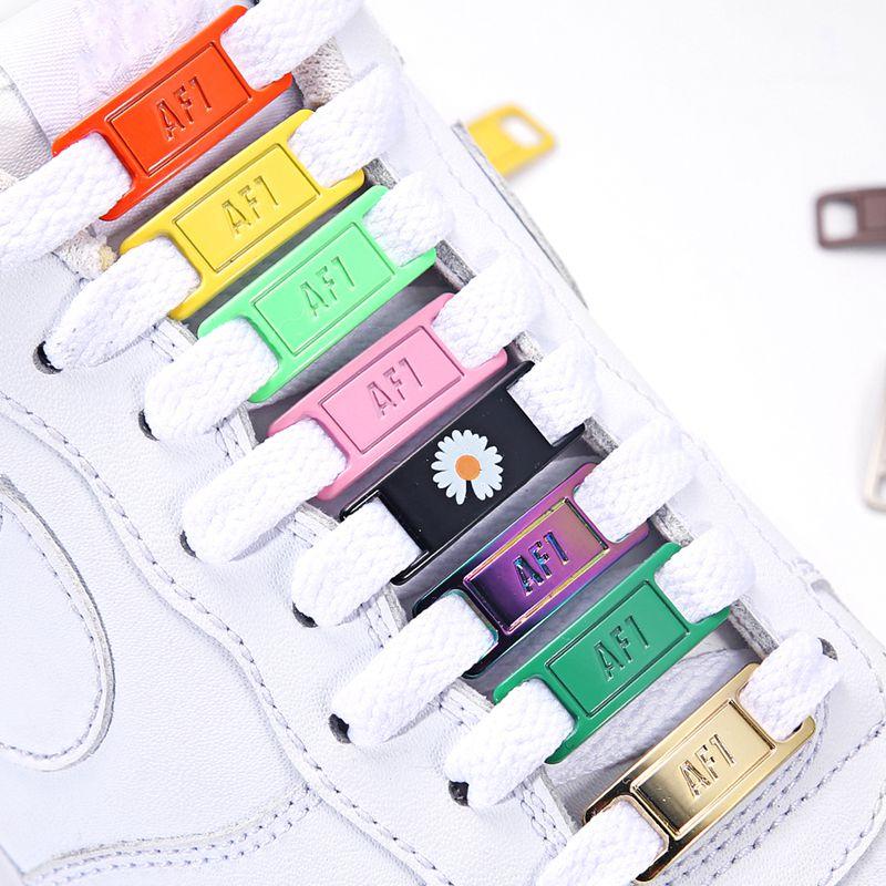 AF1 Schnürsenkel Schnalle Schnürsenkel Metall Schnalle Schnürsenkel Zubehör Metall Spitze Schloss DIY Sneaker Kits 2 teile/para
