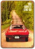 1965 corvette tin metal signs vintage cars sisoso plaques poster man cave garage retro wall decor 12x16 inch