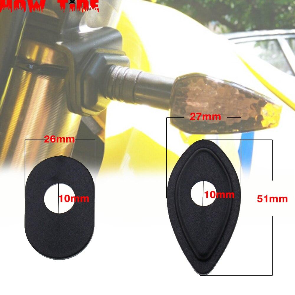 Para honda rebel 300 500 crf 250 l cbr 600 rr cbr 1000rr faze crf250l cbr600rr sinais de volta indicador adaptador espaçadores