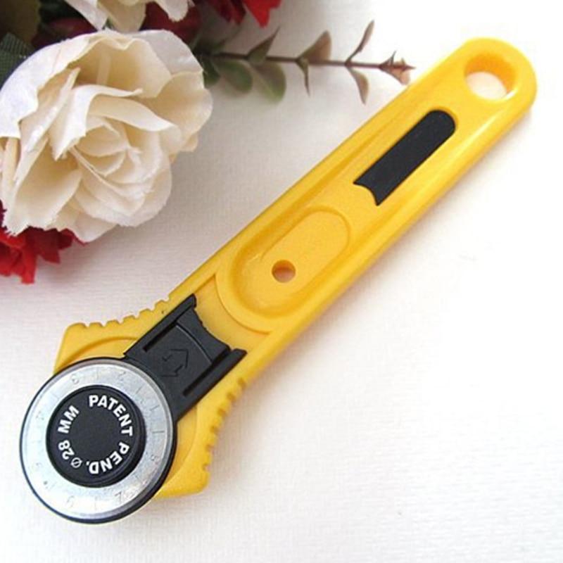 Cortador rotativo de tela para manualidades, herramienta de corte artesanal, rueda de rodillo de mosaico, cuchillo redondo, accesorios de costura, tela de papel de cuero