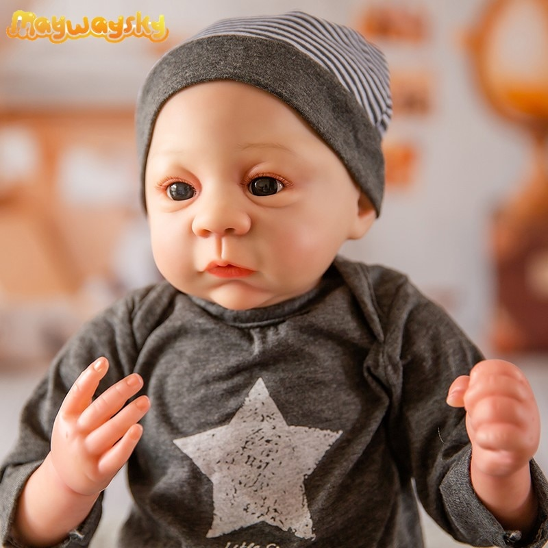 دمية أطفال واقعية من Maywaysky موديل Harlow مقاس 18 بوصة من السيليكون للبيع دمية تولد من جديد نابضة بالحياة للأطفال