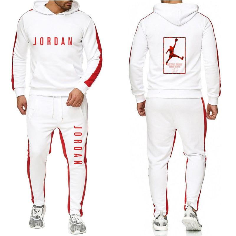 Sudadera con capucha para hombre, ropa deportiva informal de moda, Sudadera con capucha para hombre, sudadera deportiva JORDAN 23, chaqueta + Pantalones, traje para hombre