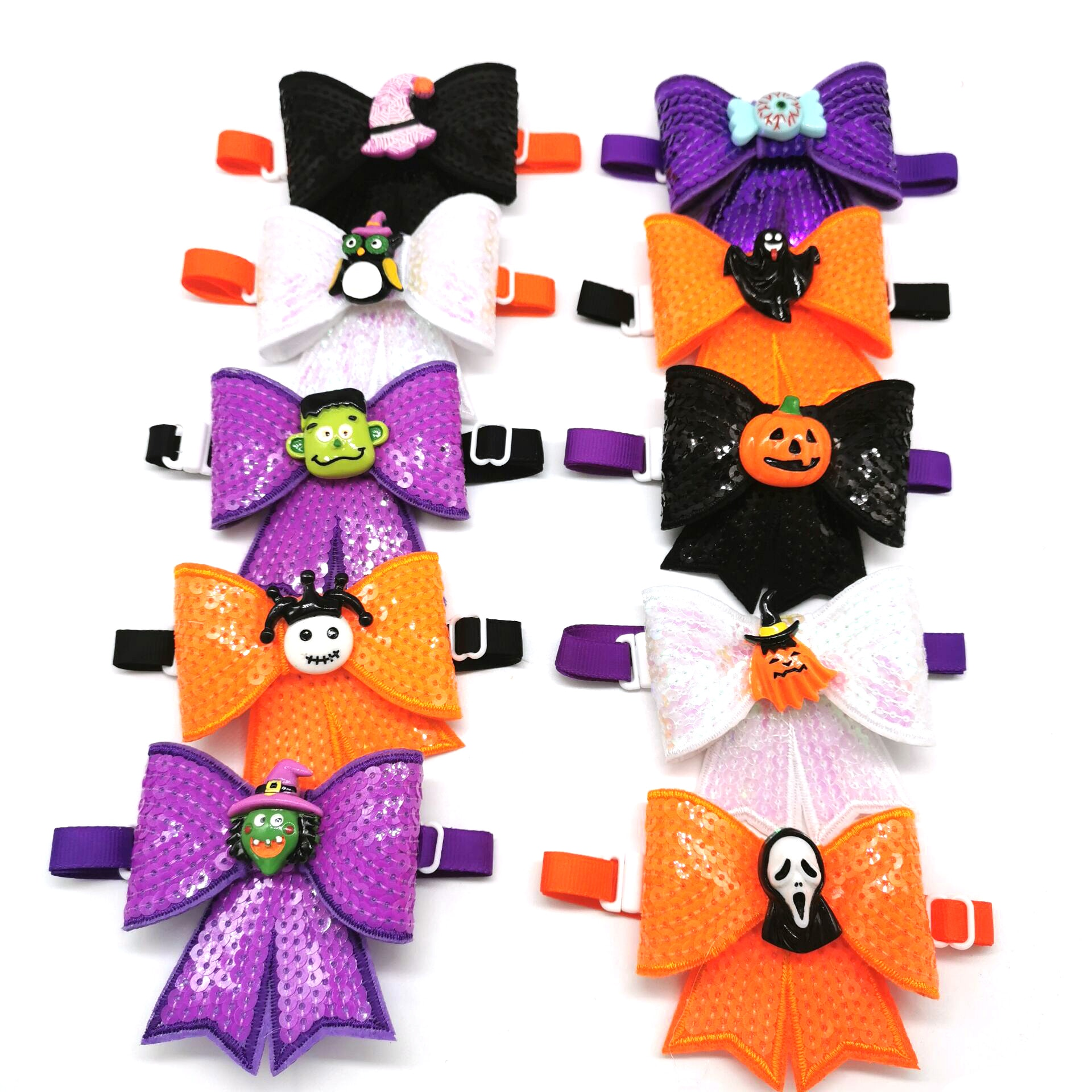 30-50pcs-halloween-pet-dog-cat-sequins-bowties-skull-pumpkin-eyes-style-puppy-dog-bowties-party-accessories-holiday-pet-supplies