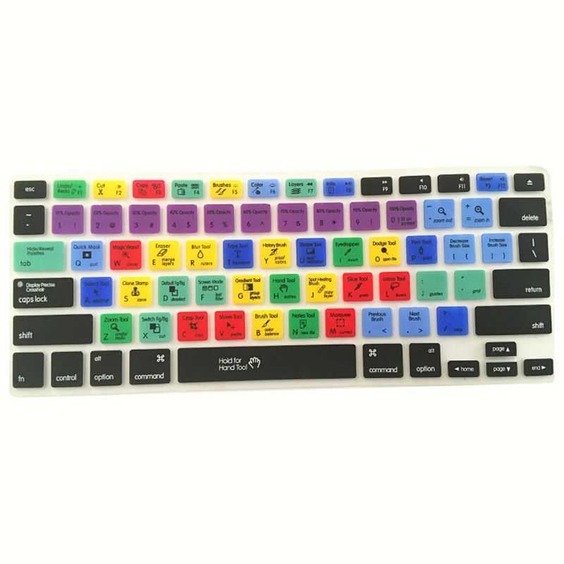 Чехол для клавиатуры с короткими клавишами, на английском языке, для фотошопа