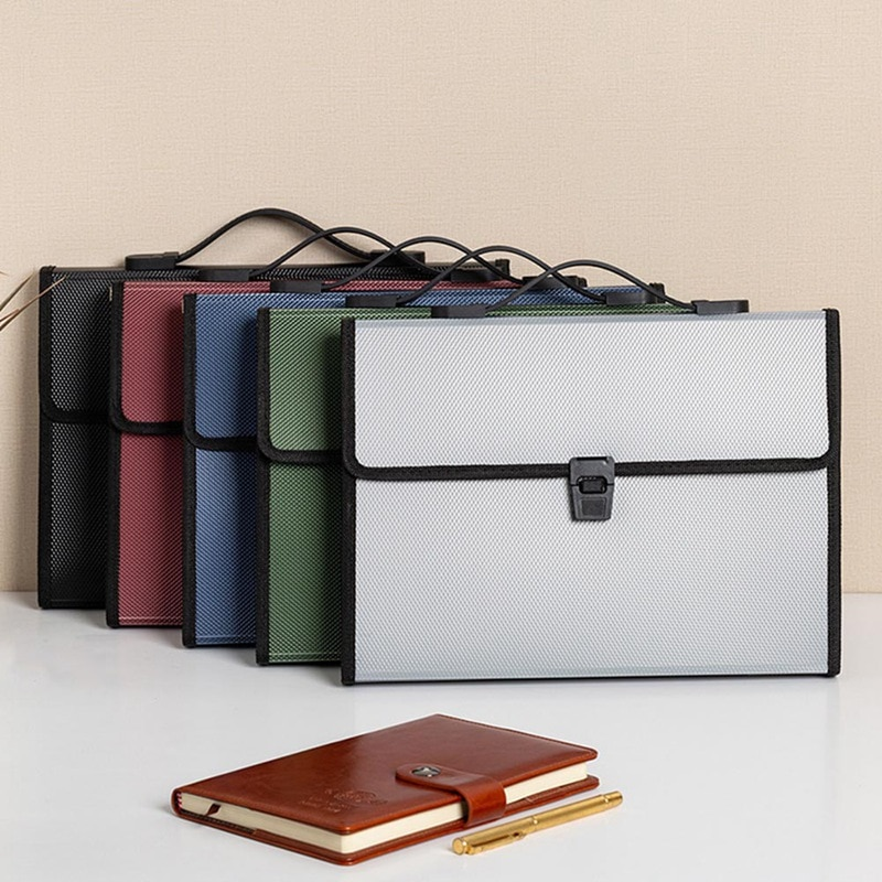 New A4 Plastic Portable Organ Multilayer File Storage Folder File Information Package Student School Office Stationery 3pcs lot school stationery a4 folder cute fashion for student clip file 3 color information booklet school office stationery