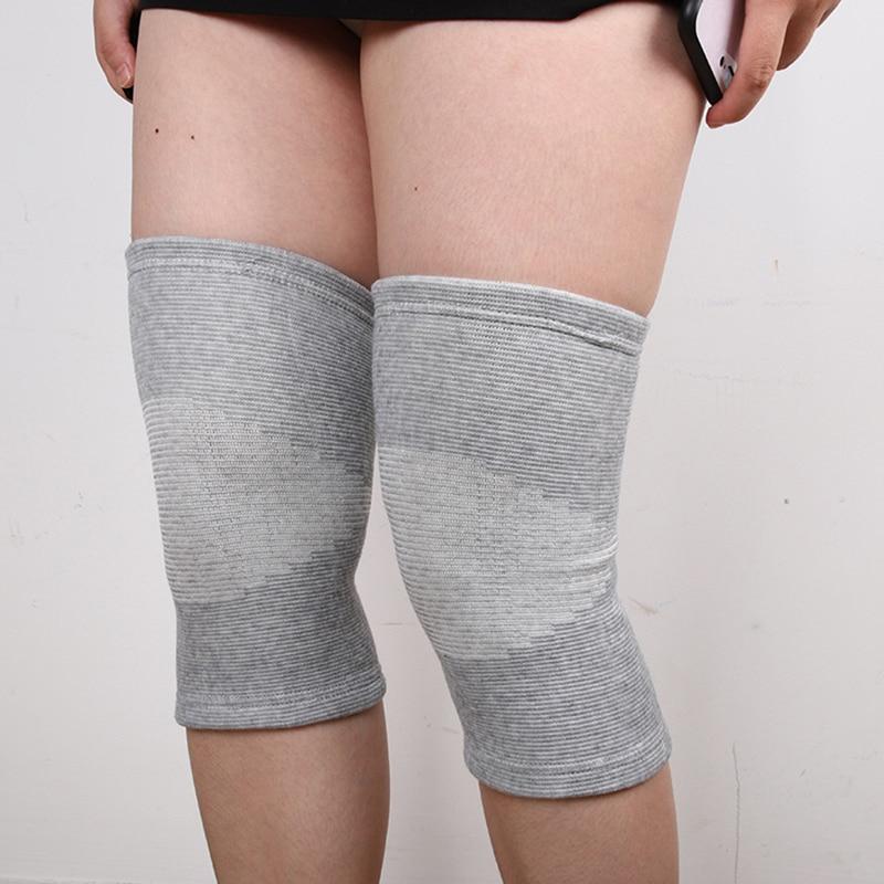 Knee Support Protector 1 Pcs Leg Arthritis Injury Gym Sleeve Elasticated Bandage Knee Pad Charcoal Knitted Kneepads Warm