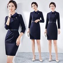 Business Dress Ol Fashion Temperament Goddess Style Real Estate Sales Workwear Jewelry Sheath Work C