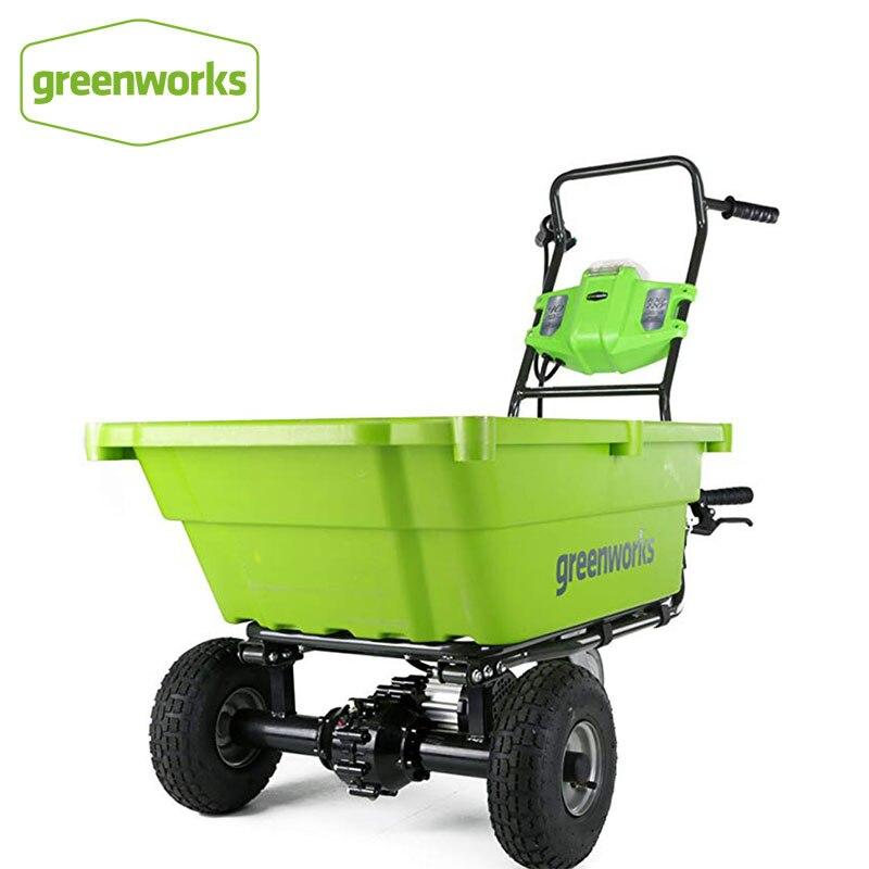 Greenworks-Gc40l00 G-Max عربة تسوق حديقة ذاتية الدفع ، حمام مقاوم للصدأ ، باستثناء شواحن البطاريات ، 40 فولت