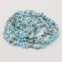 natural stone aquamarine gravel beaded irregular temperament beads 5 8mm for jewelry making diy necklace bracelet accessories