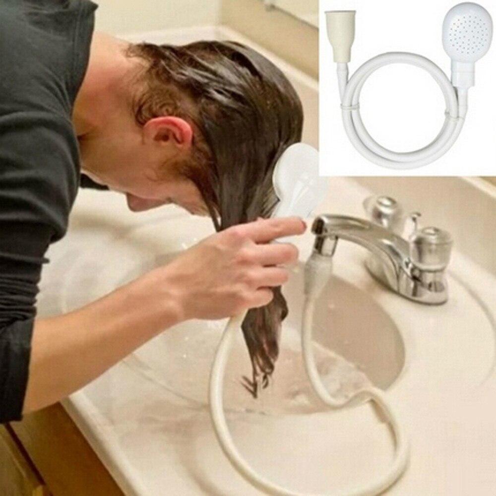 Grifo con cabezal de ducha para lavabo, manguera, lavado de pelo, conjunto...