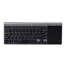 2.4GHz clavier sans fil Mini clavier multimédia pour ordinateur portable ordinateur de bureau TV fournitures de bureau périphériques dordinateur