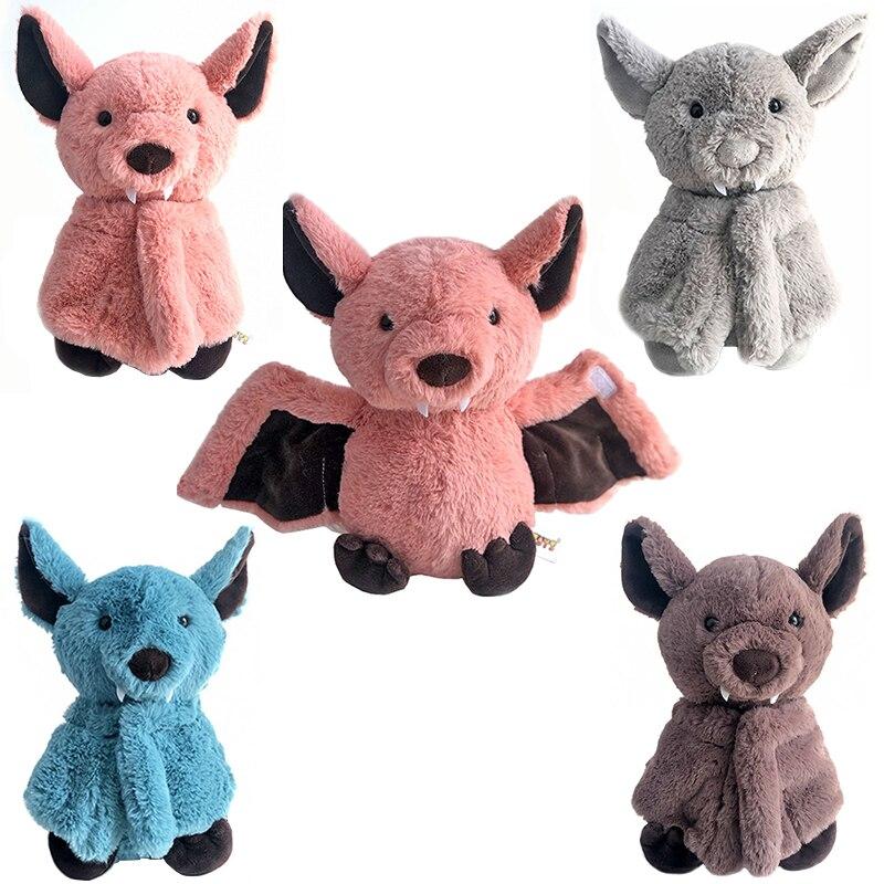 Creative Stuffed animal Bat Plush Toy Dark Elf Cute Bat Soft Sleeping Pillow Adorable Kids Gift Home Decoration Dropshipping