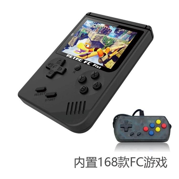 Mini consola de videojuegos 8 bits Retro de bolsillo mando de juegos incorporado en 168 juegos clásicos mejor regalo para los jugadores nostálgicos infantiles