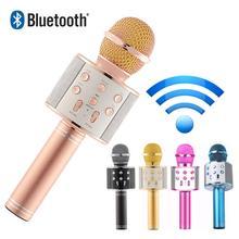 Micrófono inalámbrico Bluetooth de alta calidad, micrófono de Karaoke, reproductor de música KTV, grabador de canto, micrófono de mano, micrófono de 1800Mah