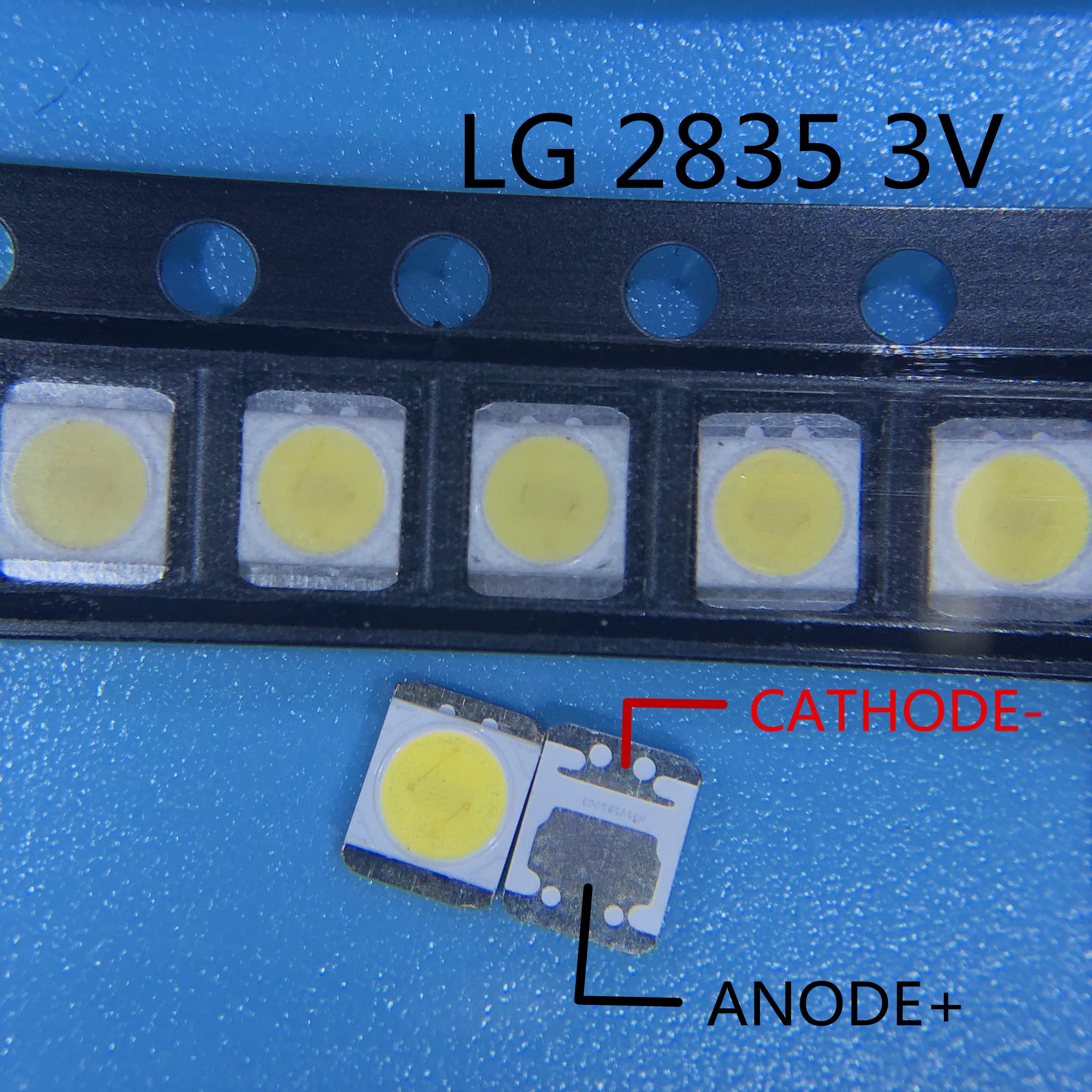 500 Uds para LG retroiluminación LED 1210, 3528, 2835, 1W 100LM blanco iluminación LCD trasera para TV aplicación de TV