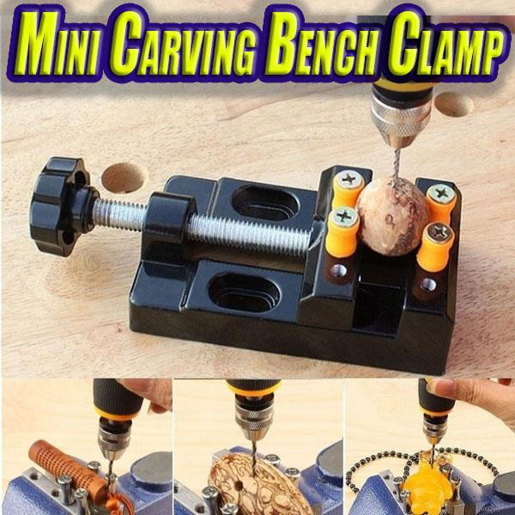 20 # miniatura hobby braçadeira na mesa bancada vise ferramenta vice muliti-functional mesa vice carving bancada braçadeira furadeira plana vice