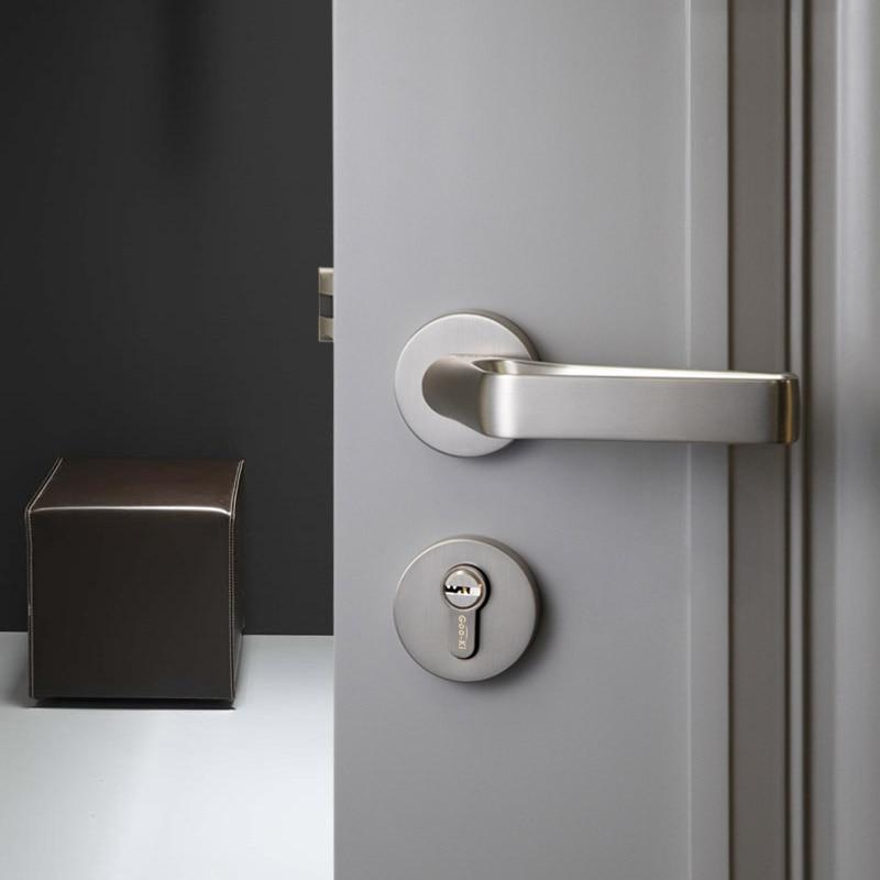 1 مجموعة تصميم فريد/قفل الباب الشمال نمط غرفة نوم مقبض الباب قفل الداخلية مكافحة سرقة غرفة السلامة قفل الباب