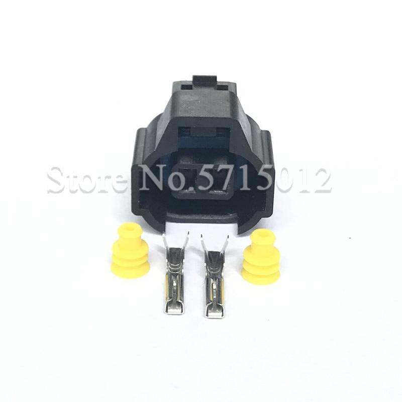 2 agujero coche inyector impermeable bobina de encendido de coche macho Conector automotriz Nippon hembra 4AGE RB26 3SGE para Toyota Mazda