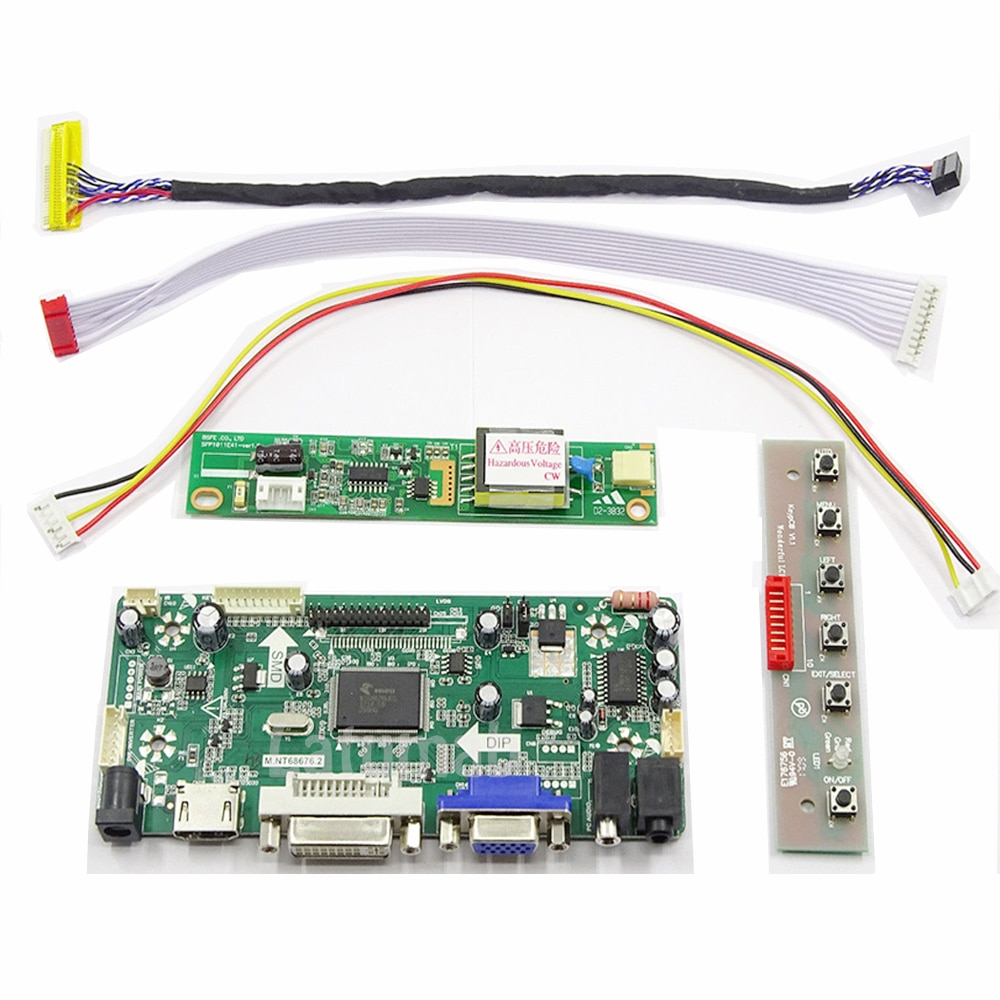 Latumab Новый 16,4 ''1920x1080 комплект для LQ164M1LD4C HDMI + DVI + VGA ЖК-экран плата контроллера