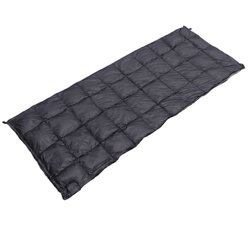 Saco de dormir caliente al aire libre repelente al agua abajo saco de dormir Backpacking Camping senderismo saco de dormir