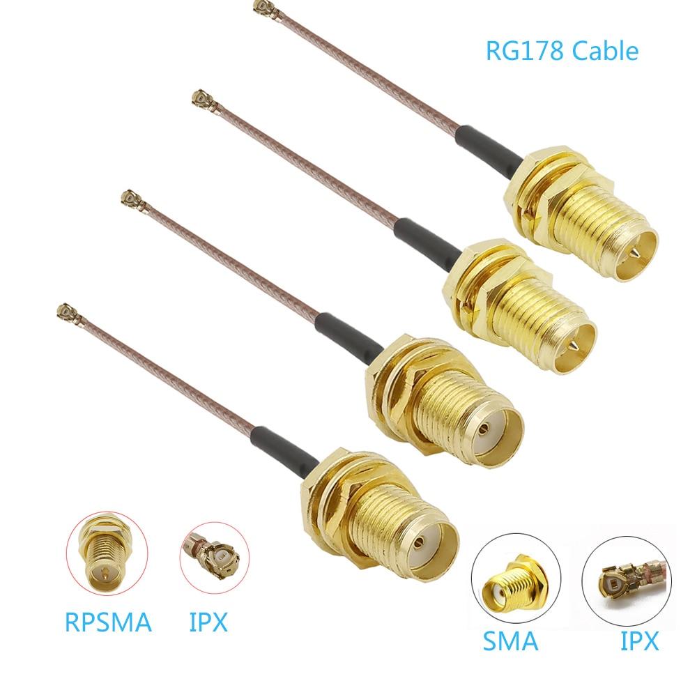 100 قطعة RG178 محول كابل SMA أنثى إلى U.FL/IPX IPEX RG178 ضفيرة IPX إلى RP SMA هوائي تمديد اقناع محول الجمعية