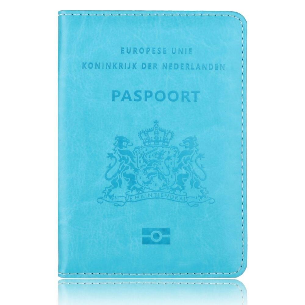 Trassory países baixos capa de passaporte de couro holland holandês leve passaporte titular viagem carteira caso