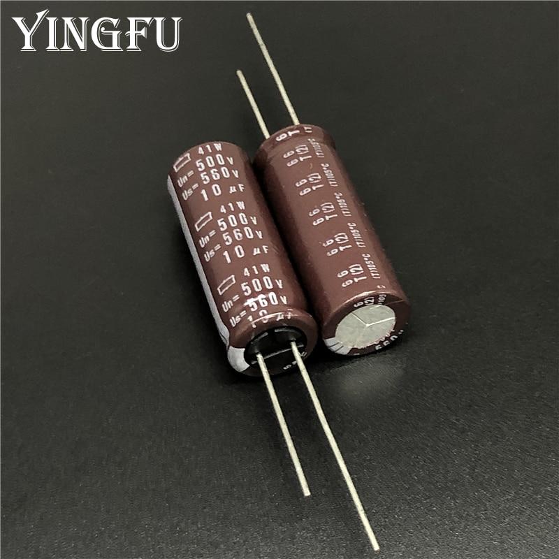5 uds 10uF 500V NCC de Japón 41W de la serie 12,5x35mm 500V10uF condensadores electrolíticos de aluminio