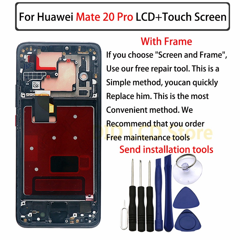 For Huawei Mate 20 Pro LCD display, with border touch screen digitizer assembly Mate 20Pro, a new and perfect touch screen enlarge