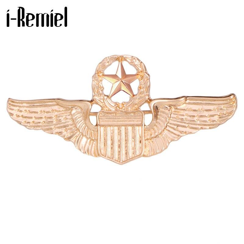 Insignia de la Fuerza Aérea de los Estados Unidos, broches de oficial de la Academia Militar, broche de ala de cinco estrellas, Insignia de solapa, accesorios para hombres