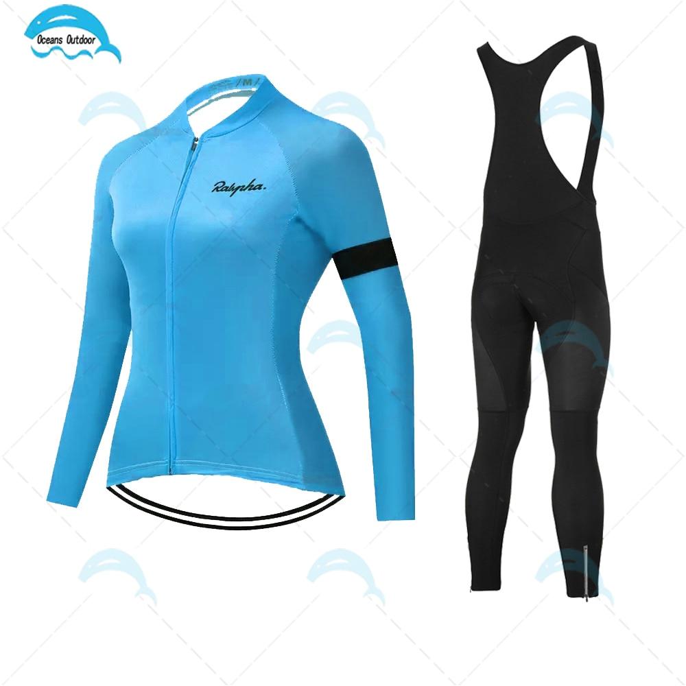 Ropa de Ciclismo para mujer, Jersey de manga larga, uniforme de entrenamiento...