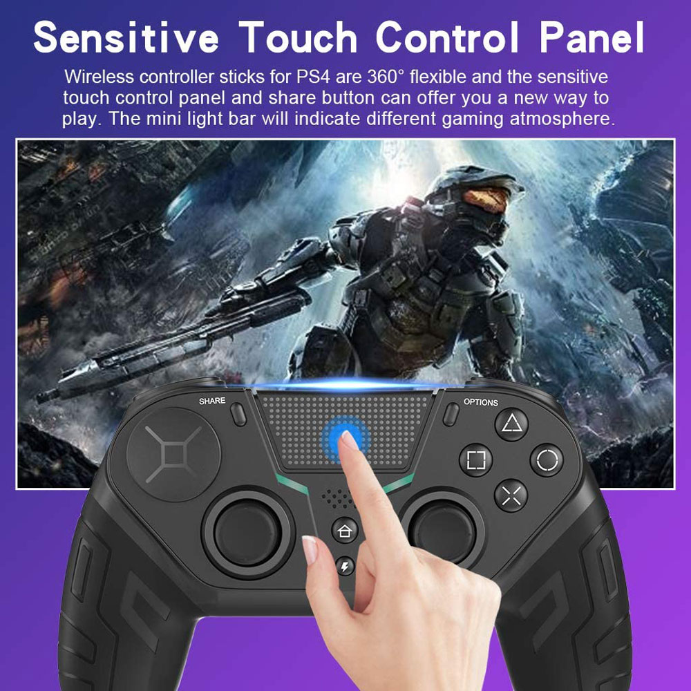 Wireless Game Controller For PS4 Elite/Slim/Pro Console For Dualshock 4 Gamepad With Programmable Back Button Support PC enlarge