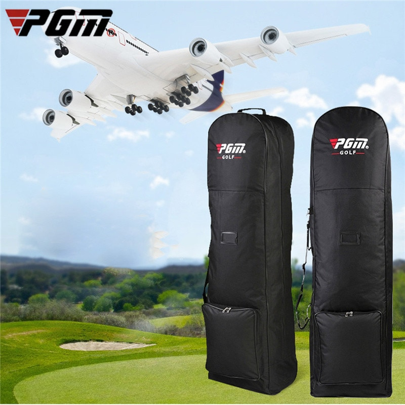 PGM Nylon Golf Bag Air Bag With Pulley Collapsible Golf Bag Double Zipper Lightweight Ball Bag