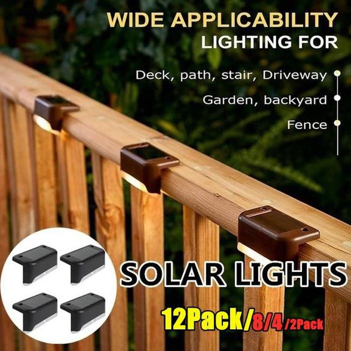 Новое обновление подсветка лестницы на солнечной уличный фонарь экологически чистые солнечные батареи стены забор светильник Водонепрони...