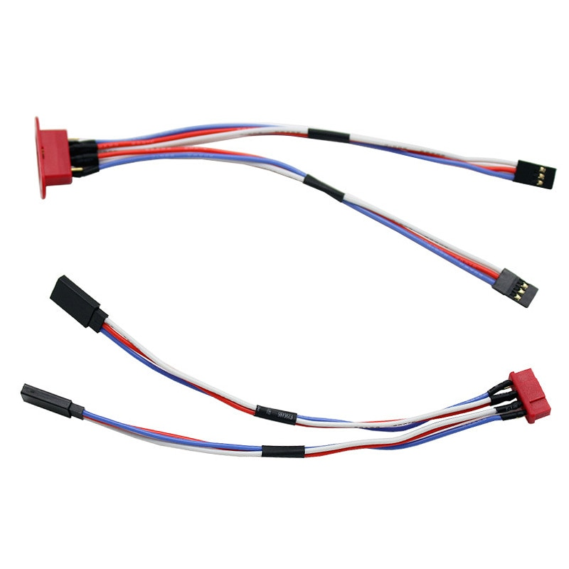 2 in 1 Servo Extension Cord Lead Y Wire Receiver Cable Connect Wire For RC Airplane Car Servo Receiver Connection enlarge