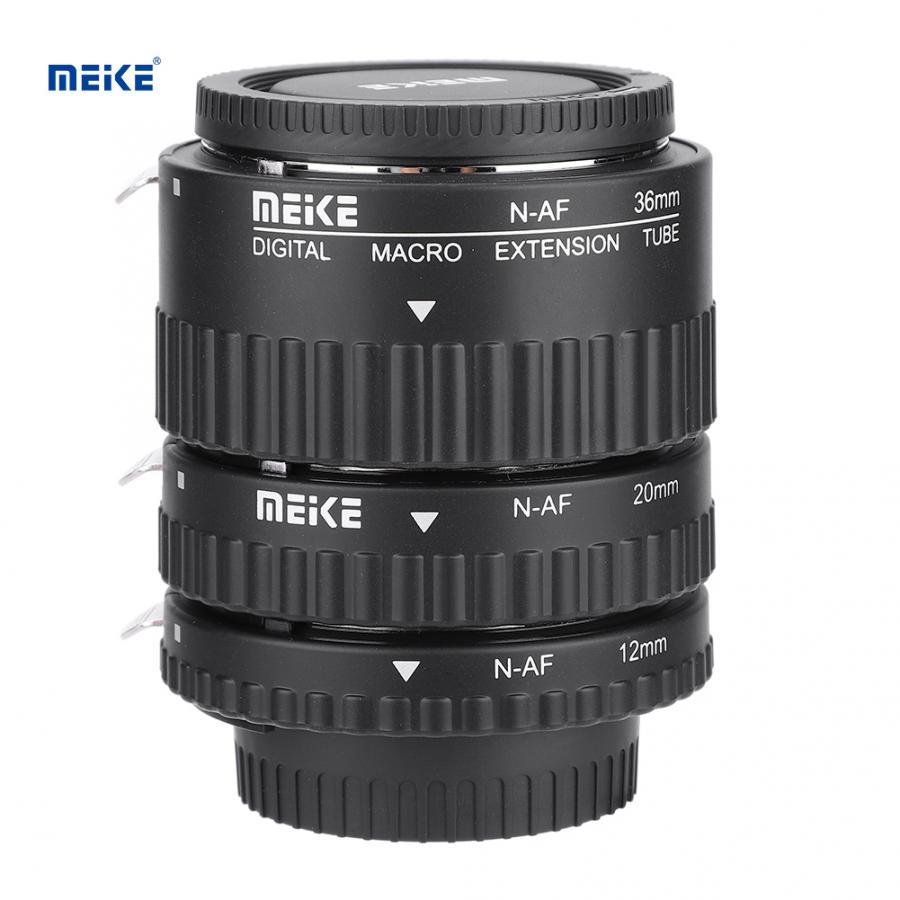 Tubo de lente de extensión Macro de enfoque automático Meike MK-N-AF 12mm + 20mm + 36mm para Nikon F montaje para Nikon D3400 D5300 D7200 D850 D5500