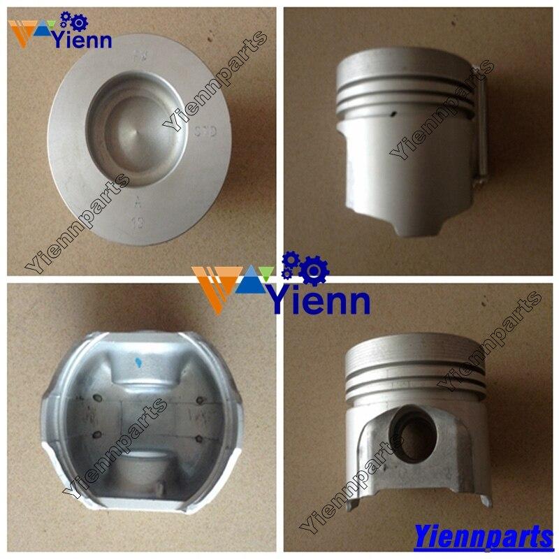 Para Kubota V2203 V2203T V2203E V2203B pistón 16423-21112 87 753mm 763, 773 cargadora de V2203 bobcat s130 Motor de excavadora