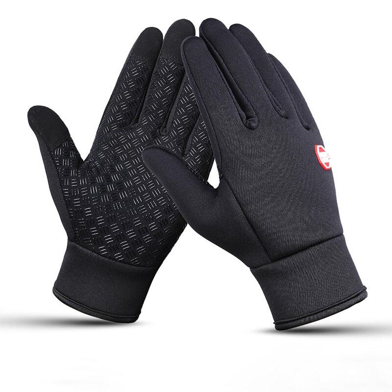 Guantes a prueba de viento con cremallera guantes impermeables calientes guantes de invierno para hombre guantes de pantalla táctil para hombre guantes antideslizantes al aire libre G011